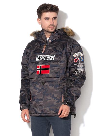 Geographical Norway Леко подплатено яке Barman без закопчаване Мъже