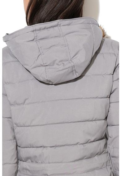 Geographical Norway Geaca cu garnitura de blana sintetica detasabila, fara inchidere Belinda Femei
