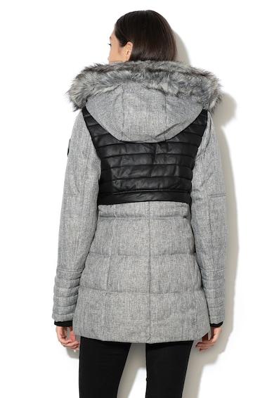 Geographical Norway Jacheta cu vatelina si garnitura de blana sintetica detasabila Bunky Femei