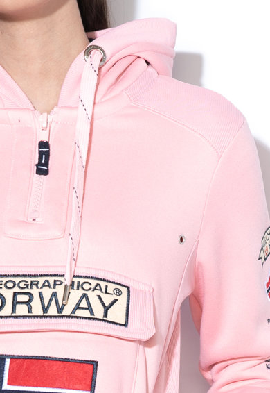 Geographical Norway Hanorac cu fermoar si logo Gymclass Femei