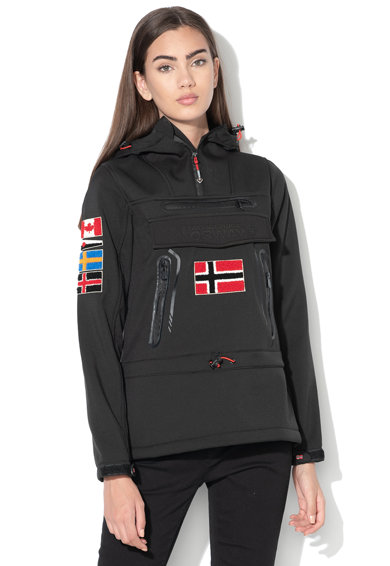 Geographical Norway Jacheta fara inchidere, cu gluga si logo brodat Tyka Femei