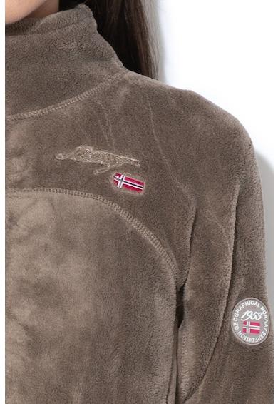 Geographical Norway Bluza sport din material teddy, cu fermoar Upaline Femei