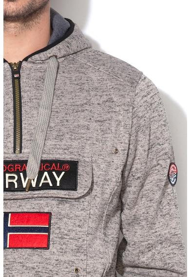 Geographical Norway Hanorac tricotat cu buzunar frontal aplicat Upclass Barbati