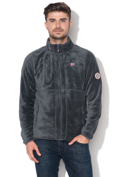 Geographical Norway Bluza sport din material teddy, cu fermoar Upload Barbati
