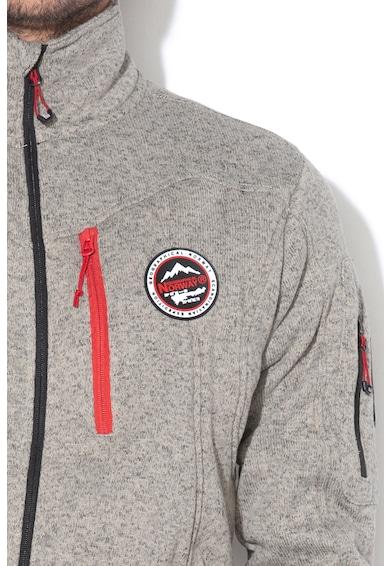 Geographical Norway Bluza sport cu fermoar si broderie logo Upshot Barbati