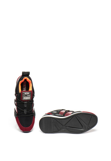 sixtyseven Pantofi sport cu platforma wedge ascunsa si garnituri de piele intoarsa si plasa Femei