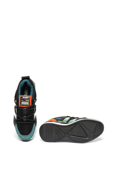 sixtyseven Pantofi sport wedge de piele intoarsa, cu garnituri de plasa Femei