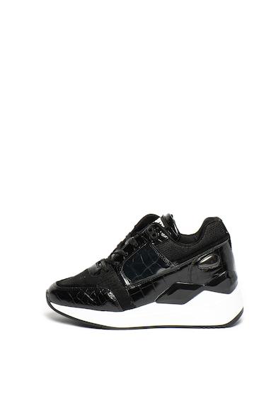 sixtyseven Pantofi sport de piele ecologica, cu aspect de piele de reptila Femei