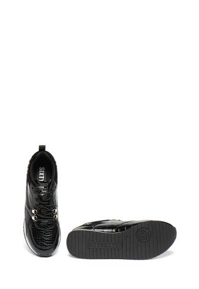 sixtyseven Pantofi sport de piele ecologica, cu aspect de piele de sarpe Femei