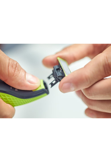 Philips Rezerva OneBlade QP230/50 kit 3 lame, compatibil OneBlade si OneBladePro, Verde Femei