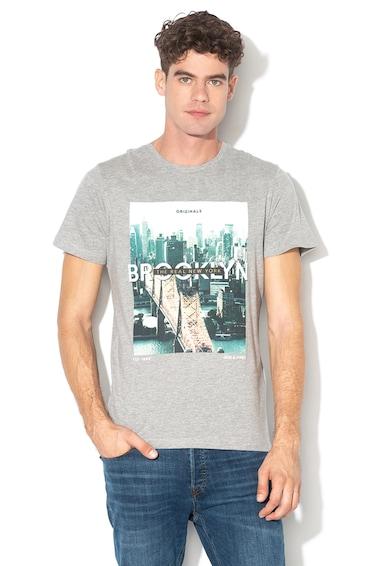 Jack&Jones Tricou regular fit cu imprimeu grafic Cool City Barbati