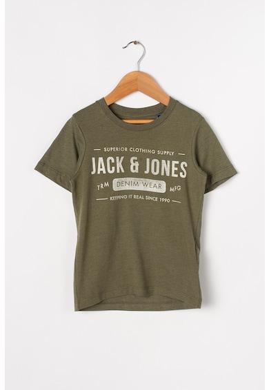 Jack&Jones Tricou din bumbac, cu logo si imprimeu text Jeans Baieti