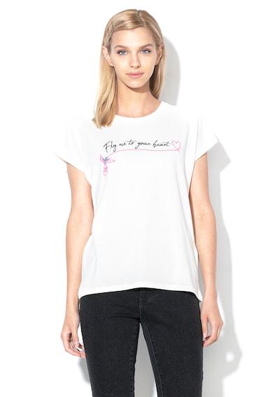 Vero Moda Tricou din amestec de modal, cu model text Birdie Femei