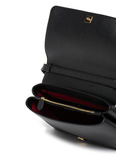 Emporio Armani Geanta de piele ecologica, cu bareta de umar si detaliu logo Femei