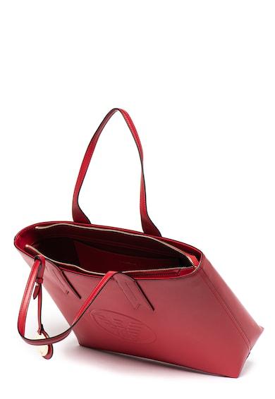 Emporio Armani Geanta shopper de piele ecologica, cu logo in relief Femei