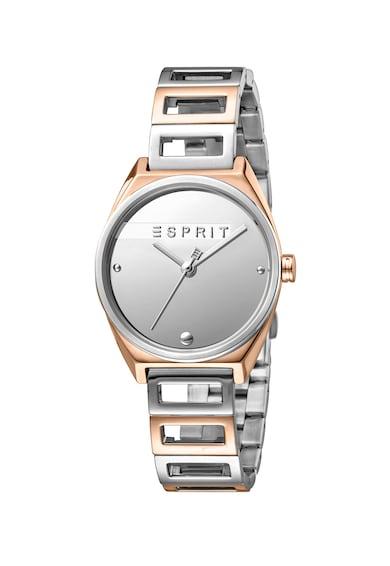 Esprit Ceas de otel inoxidabil cu logo pe cadran Femei