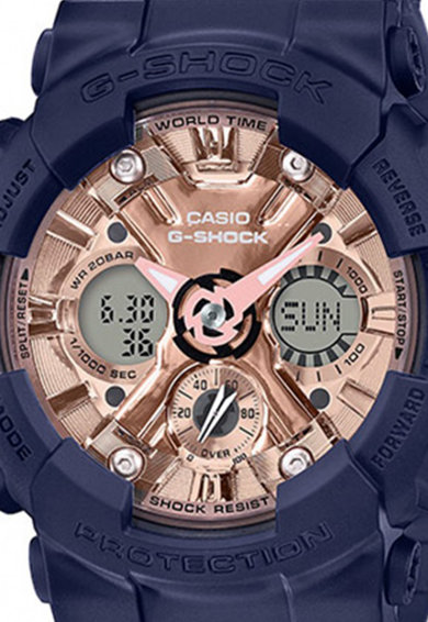 Casio Ceas cronograf cu display analog-digital, rezistent la socuri Femei