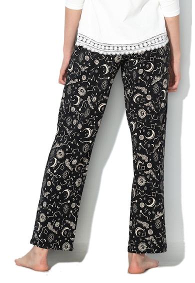 Skiny Pantaloni de pijama cu snur in talie catifelat Empowered Sleep Femei
