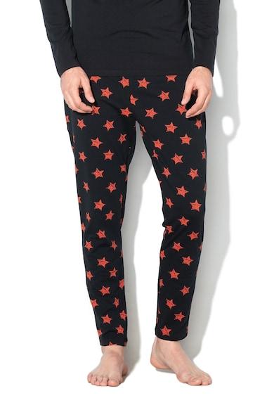 Skiny Sloungewear Trend csillagmintás pizsama férfi