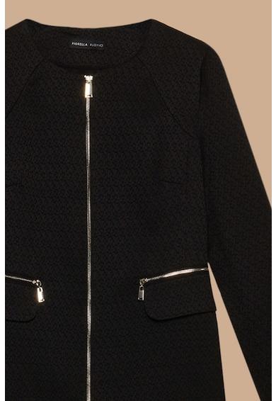 Fiorella Rubino Palton cu guler tunica si buzunare cu fermoare Femei