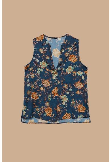 Fiorella Rubino Top cu decolteu in V si model floral Femei