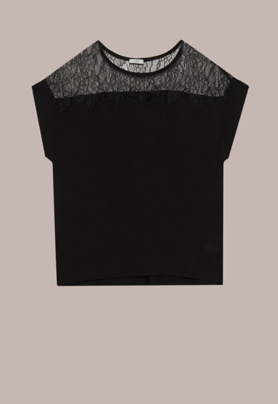 Oltre Bluza cu segment de dantela Femei