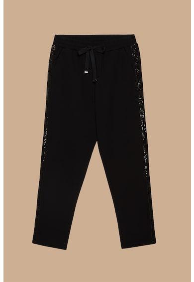 Fiorella Rubino Pantaloni cu aplicatii de strasuri Femei