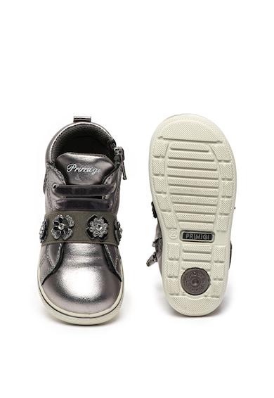 Primigi Pantofi sport inalti de piele cu aspect metalizat Fete