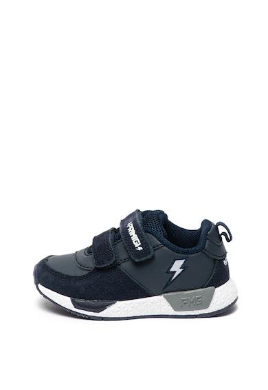 Primigi Pantofi sport de piele ecologica, cu velcro Baieti