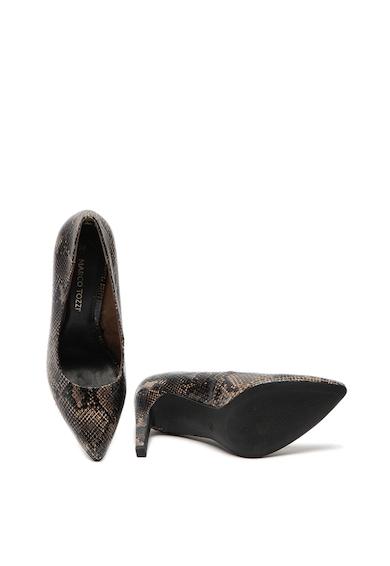 Marco Tozzi Hegyes orrú cipő hüllőbőr mintával női