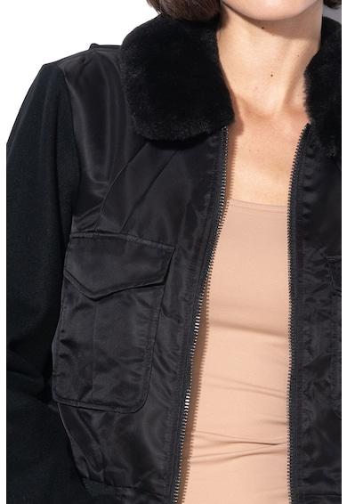 G-Star Raw Jacheta din amestec de lana, cu guler detasabil de blana sintetica Rovic Femei