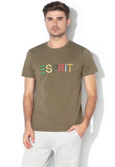 Esprit Tricou din amestec de bumbac, cu logo Barbati