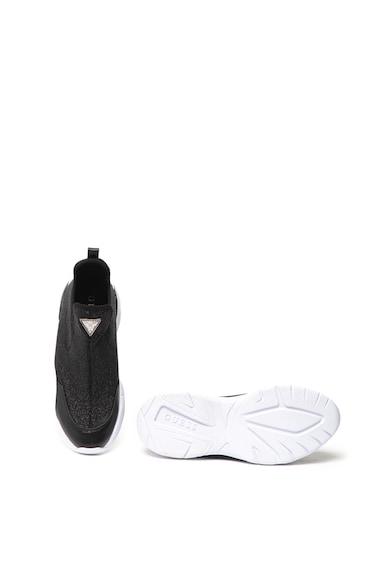 Guess Pantofi sport slip on, cu aspect stralucitor Femei
