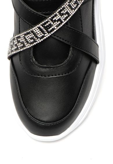 Guess Pantofi sport de piele ecologica, cu aplicatie cu strasuri Femei
