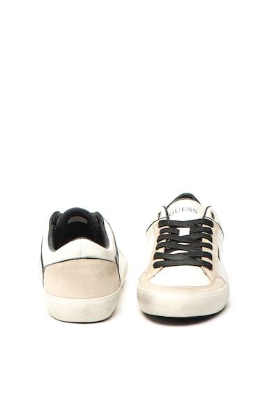 Guess Pantofi sport de piele ecologica, cu garnituri de piele intoarsa Barbati