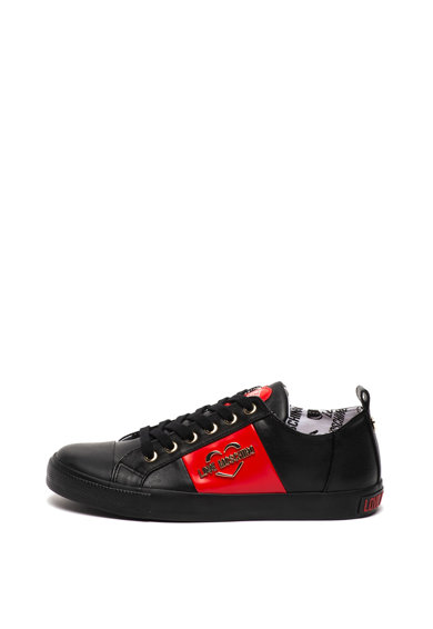 Love Moschino Pantofi sport de piele ecologica, cu aplicatie logo Femei