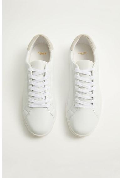 Mango Pantofi sport de piele Blanca Barbati