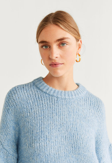 Mango Pulover din tricot cu maneci cazute Darya Femei