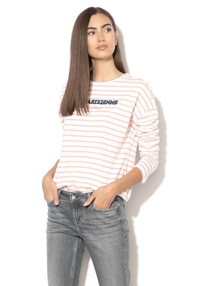 Mustang Bluza cu dungi si aplicatie text Femei