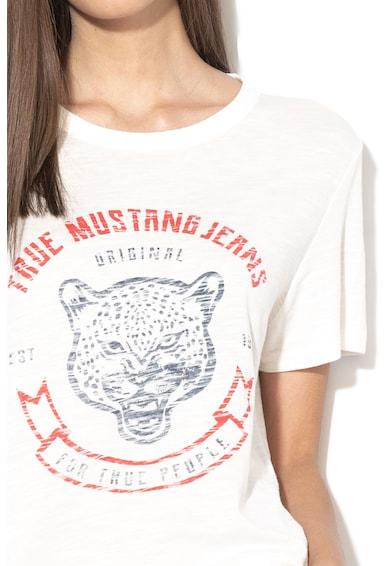 Mustang Logómintás modáltartalmú póló női
