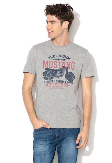 Mustang Mintás póló logóval férfi