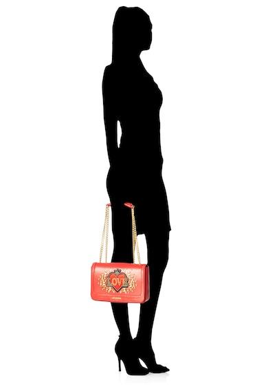 Love Moschino Geanta de piele ecologica, cu bareta de umar si aplicatie cu strasuri Femei