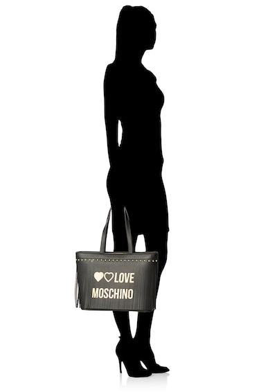 Love Moschino Geanta tote de piele ecologica, cu franjuri Femei