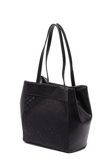 Love Moschino Geanta shopper de piele ecologica si material textil Femei