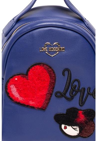Love Moschino Rucsac de piele ecologica, cu decoratiuni Femei
