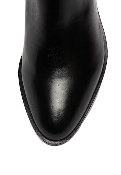 Emporio Armani Кожени ботуши с метални лого Жени