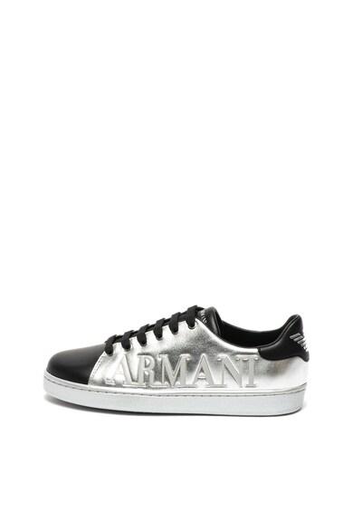 Emporio Armani Кожени спортни обувки с лого Жени