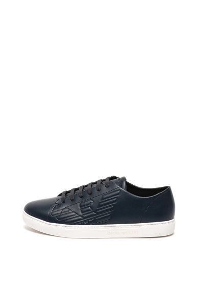 Emporio Armani Pantofi sport de piele cu logo Barbati