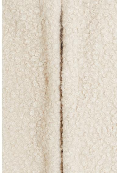 Mango Palton de blana shearling sintetica, cu croiala dreapta Bora Femei