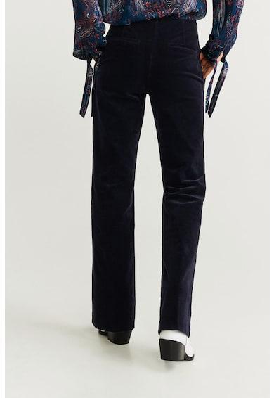 Mango Pantaloni din reiat Blue Femei
